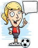 Говорить футболиста шаржа бесплатная иллюстрация