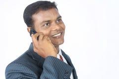 говорить человека мобильного телефона дела Стоковое Изображение