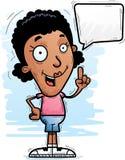 Говорить чернокожей женщины шаржа иллюстрация штока