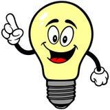 Говорить электрической лампочки иллюстрация вектора