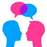 Говорить 2 человек иллюстрация вектора