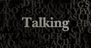 Говорить - 3D представило металлическую typeset иллюстрацию заголовка иллюстрация штока