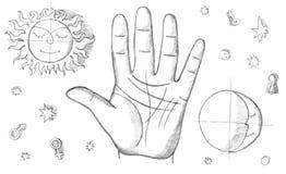 говорить palmistry удачи бесплатная иллюстрация
