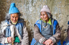 Говоря женщины в Ladakh Стоковое Изображение RF