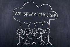 Говоря концепция английского языка Стоковое Изображение RF