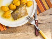 Говядина с картошками в плите Стоковое Изображение