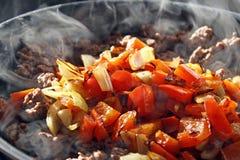Говядина и овощи Стоковое Фото