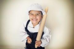 4 года девушки шеф-повара Стоковые Фото