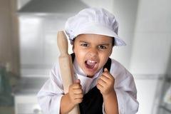 4 года девушки шеф-повара Стоковое Изображение RF