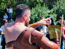Годовщина учреждения Рима/Italy/04/22/2018-Rome, clos гладиатора Стоковое фото RF