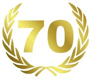 годовщина 70 Стоковое фото RF