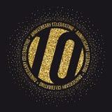 10 годовщины лет логотипа торжества 10th логотип годовщины Стоковые Фотографии RF
