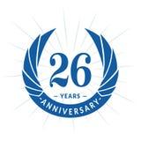 26 годовщины лет шаблона дизайна Элегантный дизайн логотипа годовщины 26 лет логотипа бесплатная иллюстрация