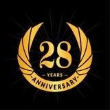 28 годовщины лет шаблона дизайна Элегантный дизайн логотипа годовщины 28 лет логотипа бесплатная иллюстрация