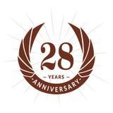 28 годовщины лет шаблона дизайна Элегантный дизайн логотипа годовщины 28 лет логотипа иллюстрация штока