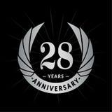 28 годовщины лет шаблона дизайна Элегантный дизайн логотипа годовщины 28 лет логотипа иллюстрация вектора