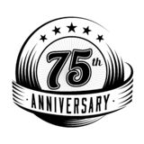 75 годовщины лет шаблона дизайна 75th годовщина празднуя дизайн логотипа логотип 75years бесплатная иллюстрация