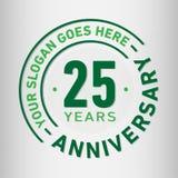 25 годовщины торжества лет шаблона дизайна Вектор и иллюстрация годовщины Двадцать пять лет логотипа иллюстрация вектора
