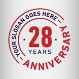 28 годовщины торжества лет шаблона дизайна Вектор и иллюстрация годовщины 28 лет логотипа бесплатная иллюстрация