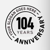 104 годовщины торжества лет шаблона дизайна Вектор и иллюстрация годовщины 104 лет логотипа иллюстрация вектора