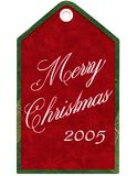 год бирки рождества Стоковое фото RF