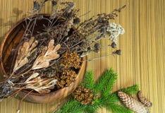 год близких украшений рождества новый поднимающий вверх Сухие ветви, конусы, ветвь ели Теплые тоны стоковые изображения rf
