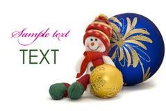 год игрушки рождества карточки шариков цветастый новый Стоковые Изображения