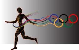 год игр атлетики светлый иллюстрация штока