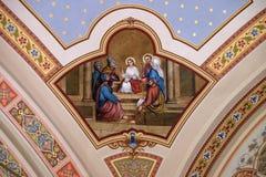 12 год Иисус в виске Стоковые Фото