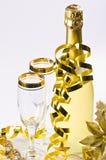 год кануна стеклянный новый s шампанского стоковое фото rf
