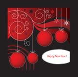 год карточки d новый красный Стоковые Изображения RF