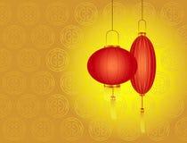 год китайских фонариков дня новый красный Стоковая Фотография RF