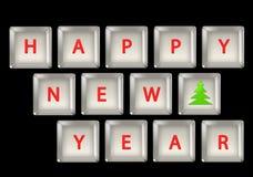 год клавиатуры новый s Стоковая Фотография