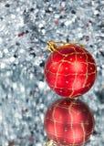 год красного цвета s абстрактного шарика предпосылки новый Стоковое фото RF