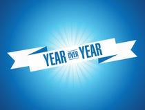 год над годом график дизайна иллюстрации Винтажная лента Стоковые Изображения RF