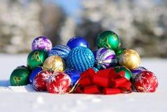 год орнамента рождества новый Стоковые Фотографии RF