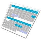 год плановика календара Стоковая Фотография