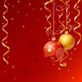 год рождества приветствуя новый s карточки Стоковые Изображения