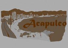 Год сбора винограда Акапулько Стоковое Изображение