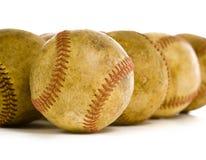 Год сбора винограда, античные бейсболы стоковые изображения rf