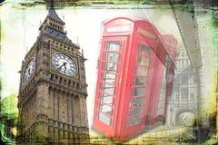Год сбора винограда иллюстрации дизайна искусства Лондона ретро Стоковое Изображение RF