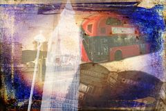 Год сбора винограда иллюстрации дизайна искусства Лондона ретро Стоковая Фотография RF