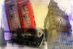 Год сбора винограда иллюстрации дизайна искусства Лондона ретро Стоковые Фотографии RF