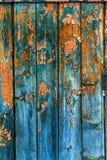 Год сбора винограда покрасил деревянную текстуру предпосылки деревянного выдержанного ru стоковая фотография rf