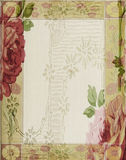 Год сбора винограда - розовая рамка предпосылки Scrapbook коллажа Стоковые Фотографии RF