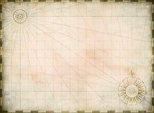 Год сбора винограда сгорел пустую предпосылку карты сокровища иллюстрация штока