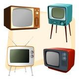 Год сбора винограда TVs Стоковое фото RF