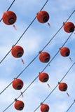 год серии китайских фонариков новый красный Стоковые Фотографии RF