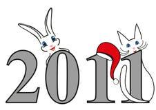 год символов иллюстрации рождества новый Стоковое фото RF