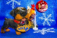 Год 2018 год собаки Стоковые Фото